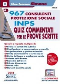 Concorso INPS 967 Consulenti Protezione Sociale Quiz Commentati per le Prove Scritte