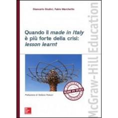 Quando il Made in Italy è più Forte della Crisi: Lesson Learnt di Giudici, Marchetto