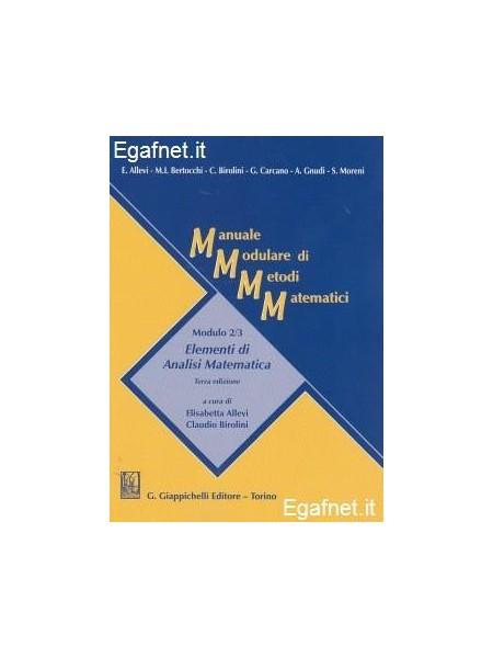 Manuale modulare di metodi matematici. Modulo 1: Calcolo ...