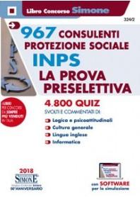 Concorso INPS 967 Consulenti Protezione Sociale Prova Preselettiva Quiz Commentati