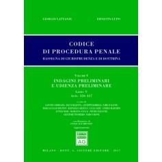 Codice Procedura Penale Rassegna di Giurisprudenza e di Dottrina Vol V Libro V di Lattanzi, Lupo
