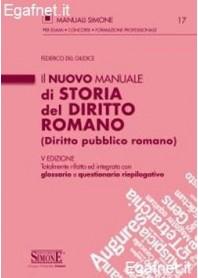 Manuale Di Storia Del Diritto Romano di Federico del Giudice