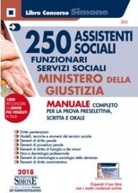 Concorso 250 Assistenti Sociali - Funzionari servizi sociali Ministero della Giustizia