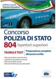 Concorso 804 Ispettori superiori Polizia di Stato Manuale di Nissolino