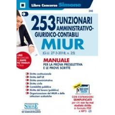 253 Funzionari MIUR amministrativo Giuridico Contabili