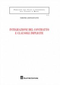 Integrazione del Contratto e Clausole Implicite di Bongiovanni