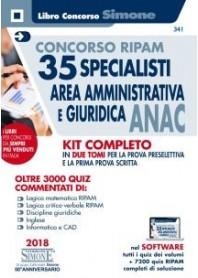 Concorso Ripam 35 Specialisti Area Amministrativa e Giuridica ANAC Kit