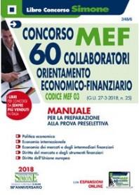 Concorso MEF 60 Collaboratori Economico Finanziario Manuale