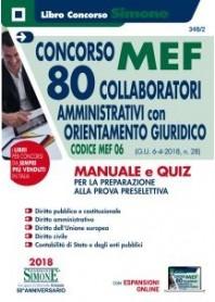 Concorso MEF 80 Collaboratori Amministrativi con Orientamento Giuridico Manuale