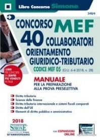 Concorso MEF 40 Collaboratori Orientamento Giuridico Tributario Manuale