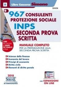 Concorso INPS 967 Consulenti Protezione Sociale Seconda Prova Scritta Manuale Completo