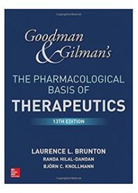 Goodman and Gilman' s The Pharmacological Basis of Therapeutic di Goodman, Gilman, Burton