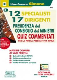 12 Specialisti e 17 Dirigenti Presidenza del Consiglio dei Ministri Quiz Commentati
