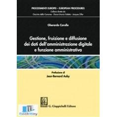 gestione, fruizione e diffusione dei dati dell'amministrazione digitale e funzione amministrativa