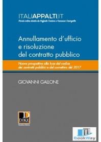 annullamento d'ufficio e risoluzione del contratto pubblico