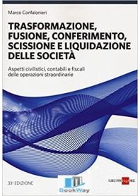 trsformazione, fusione, conferimento, scissione e liquidazione delle societa'