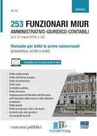 253 funzionari miur amministrativo-giuridico-contabili