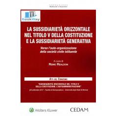 sussidiarieta' orizzontale nel titolo v della costituzione e la sussidarieta' generativa
