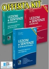 kit offerta  lezioni e sentenze 2018