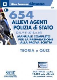 654 Allievi Agenti Polizia di Stato - Teoria e Quiz