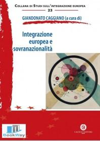 integrazione europea e sovranazionalita'