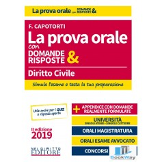 LA PROVA ORALE CON DOMANDE & RISPOSTE - DIRITTO CIVILE 2019
