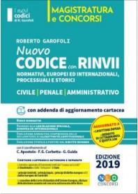 Codice Rinvii Storici Civile, Penale e Amministrativo 2019 di Garofoli
