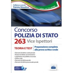 Concorso 263 Vice Ispettori Polizia di Stato Teoria e Test di Nissolino