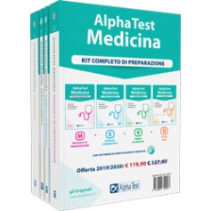 Alpha Test Medicina Kit Manuale, Esercizi, Prove e 10.000 Quiz