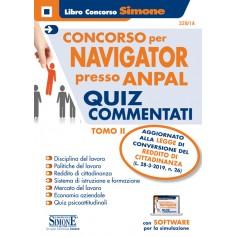 Concorso per NAVIGATOR presso Anpal Quiz Commentati TOMO II