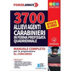 3700 allievi agenti carabinieri in ferma quadriennale
