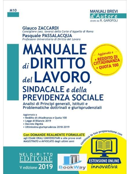 manuale di diritto del lavoro sindacale e della previdenza sociale