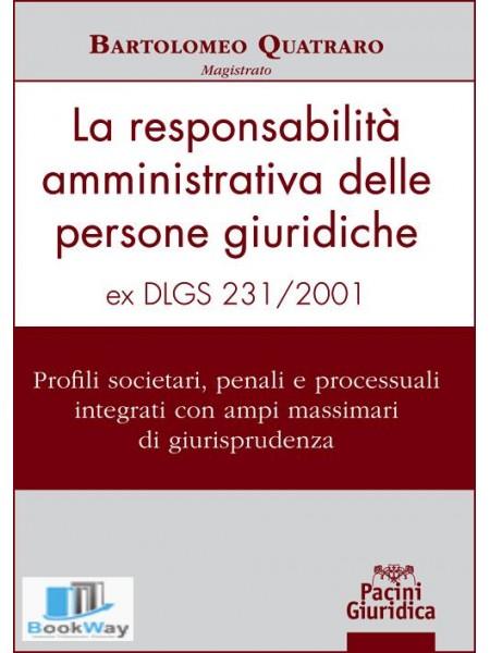 la responsabilita' amministrativa delle persone giuridiche