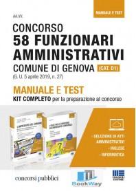 concorso 58 funzionari amministrativi comune di genova (cat.d1)