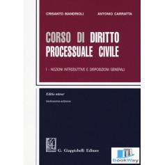 corso di diritto processuale civile i