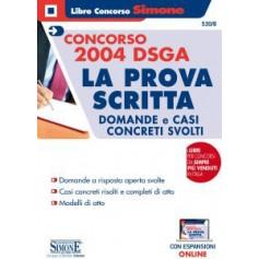 Concorso 2004 DSGA La Prova Scritta Domande e Casi Concreti Svolti