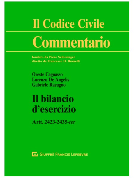 Il Bilancio d'Esercizio di Cagnasso, De Angelis, Racugno