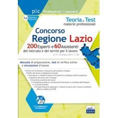 Concorso Regione Lazio 200 Esperti e 60 Assistenti del Mercato del Lavoro Materie Professionali