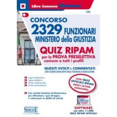 Concorso 2329 Funzionari Ministero della Giustizia Quiz RIPAM per la Prova Preselettiva Comune a Tutti i Profili