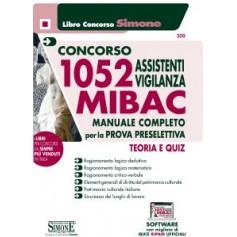 Concorso 1052 Assistenti Vigilanza MIBAC Manuale per la Prova Preselettiva