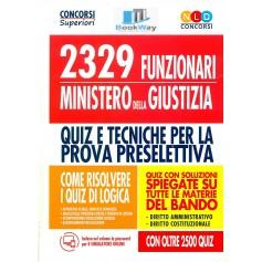 2329 funzionari ministero della giustizia