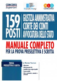 159 posti giustizia amministrativa corte dei conti avvocatura dello stato