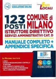 123 posti comune di milano - istruttore direttivo servizi amministrativi cat. d