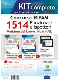 Concorso RIPAM 1514 Funzionari e Ispettori nel Ministero del Lavoro, nell'INL e nell'INAIL Prova Preselettiva Kit