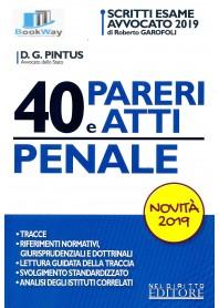 40 PARERI E ATTI DI PENALE 2019