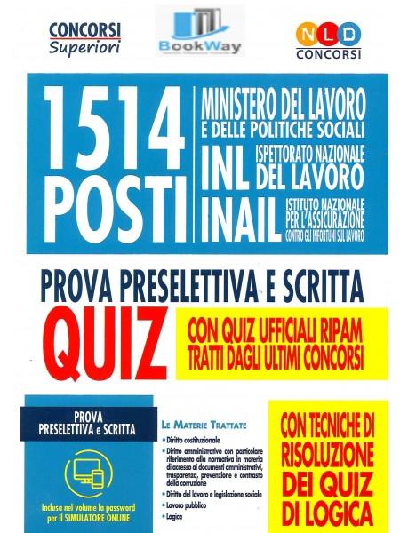 1514 posti ministero del lavoro, inl, inail.