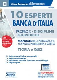 10 Esperti Banca d'Italia Profilo C Discipline Giuridiche Manuale Prova Scritta e Orale