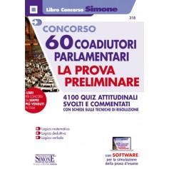 Concorso 60 Coadiutori Parlamentari Prova Preliminare