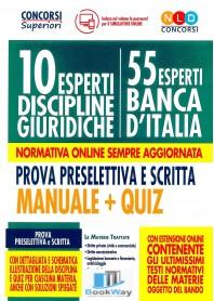 10 esperti discipline giuridiche - 55 esperti banca d'italia