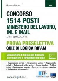 1514 posti  - concorso minostero del lavoro, inl e inail - prova preselettiva - quiz di logica ripam